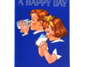 A Happy Day - Dairy  Council Promotion booklet - 1962 printing - Miriam Jane Hurford