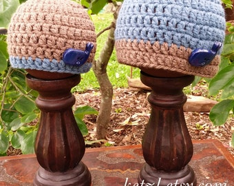 Crochet Pattern Baby Boys Crochet Hat Pattern Crochet patterns beanie with Polymer Clay Tutorial Cute chunky Buttons Blue Whale Newborn