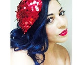 HEART Sequin Fascinator