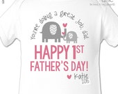 First Father's Day shirt or bodysuit - You're doing a great job dad - adorable 1st Father's Day gift from daughter