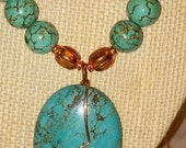 Turquiose and Copper Necklace