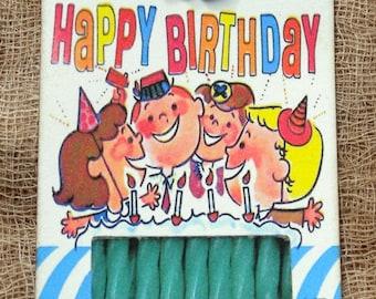 Retro Happy Birthday CandleTags #118