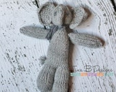 Newborn and infant photography prop knitted elephant