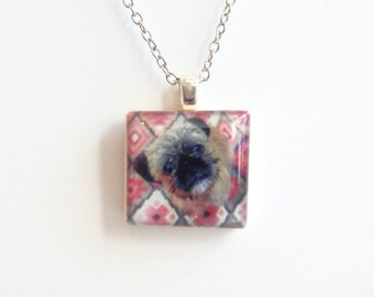 Dogs of Instagram Picture Necklace - Custom Photo Scrabble Jewelry - Personal Photo Jewelry - Instagram Jewelry - Pet Memorial Necklace