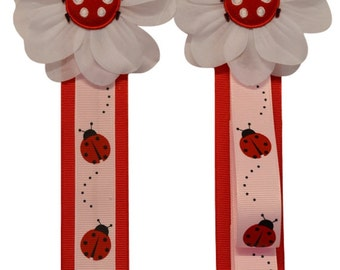 LADYBUG Headband Holder and Hair Bow Holder MATCHING SET
