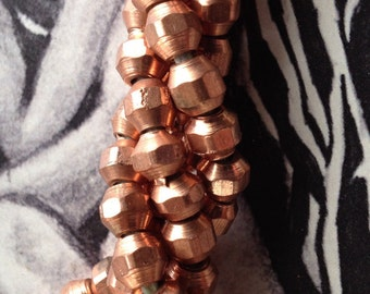 Copper  Facetted SQUARES  5 X 5 mm         Nuts N Bolts