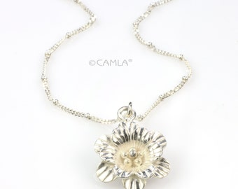 SALE Gardenia Flower Necklace