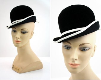 Black and White Hat By Emme Boutique