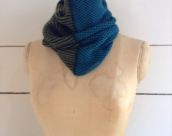 The Union Menswear Cowl in Holly/Peacock/Olive