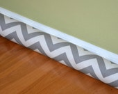 Door Draft Stopper Cover Storm Grey Zig Zag Twill  - Premier Prints Chevron  - Draught excluder, Window Wind Blocker Dodger - Can Customized