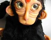 Harisha - Handmade OOAK Monkey Deity Art Doll