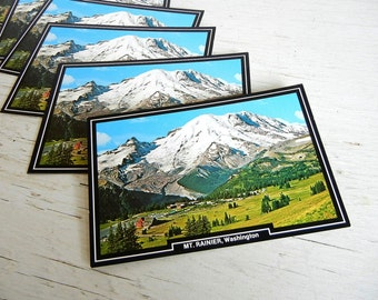 Rainier National Park Postcards | Mt Rainier | Washington State | Pacific Northwest Souvenir | Vintage National Park Souvenir Post Cards