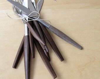 ekco eterna canoe muffin knife fork  danish modern stainless flatware
