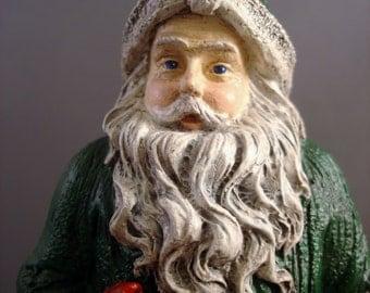 Santa Claus Figurine - Santa Figurine - Christmas Decor - Holiday Decor - Christmas Decoration - Holiday Decorations - Cardinals - Cardinal