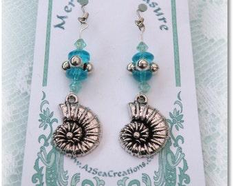 Mermaid Jewelry, Beach Wedding Accessories, Beaded Earrings