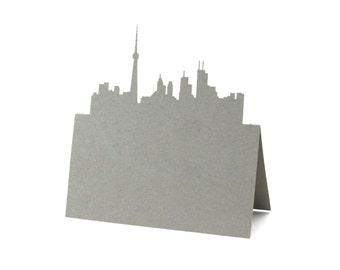 Toronto Place Cards set of 10 - Canada, Escort Cards,Wedding Place Cards,City Skyline,Table Numbers,Seating Card,Rustic Wedding,Bridal