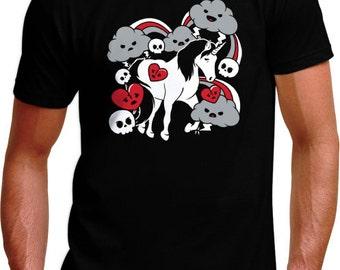 Sad Unicorn T-Shirt - Mens, Womens & Kids Sizes Small-2XL Available