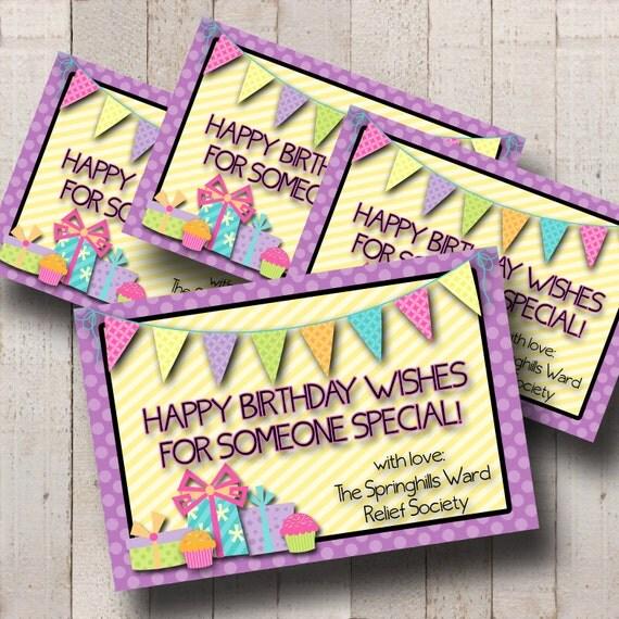 Items Similar To NEW Relief Society Customized Birthday