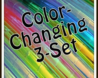 """HOOP & MINIS! Color Changing Polypro 3-Pack. Made Your Sizes and Colors! Available in 3/4"""" and in 5/8"""" OD! Choose Colors and Grip in Notes."""