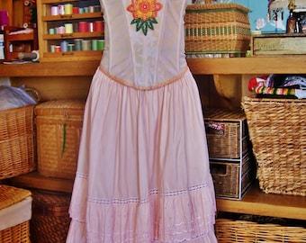 Party Dress, Strapless Dress, Corset Dress, Festival Dress, Strapless Peach dress, size M / L