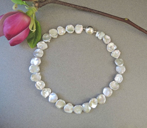 Keshi Pearl Necklace Pearl Strand White Pearls By Betsybensen