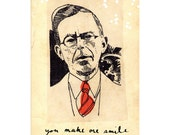 you make me smile - greeting card