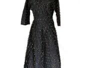 50s Cocktail Dress Vintage Petite Lady Modes Evening Dress Sz M