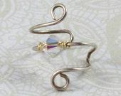 Crystal AB Swirl Earcuff Swarovski Crystal