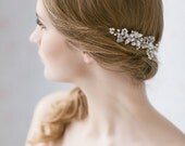 Bridal Hair Comb, Wedding Hair Accessories,  Bridal Hair Piece , Crystal Pearl Wedding Hair Comb, Ivory Pearl Hair Comb