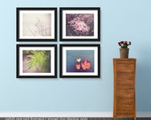 Save 20%, Four Seasons Nature Photography Set, Photo Collection, Spring Summer Autumn Winter, Natural Botanical Flowers Photograph, Colorful