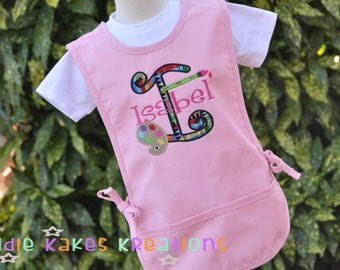 Personalized Kids Art Smock - Art Smock for Kids - Paint Palette Design - Childrens Art Smock - Art Smock for School - Gifts for Kids