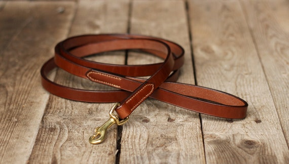 Long Leather Dog Leash