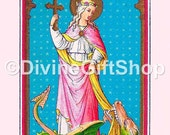 "Icon of Saint Margaret of Antioch Virgin-Martyr. 5"" X 7"" Print. Gorgeous. Patron Saint of Pregnancy"
