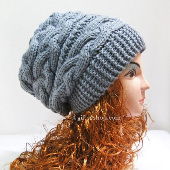 Knitting Pattern For A Beanie : Knitting Pattern Hat Knitting Pattern Slouchy Beanie