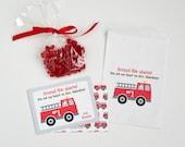 Firetruck Valentine Cards - Firetruck Valentines