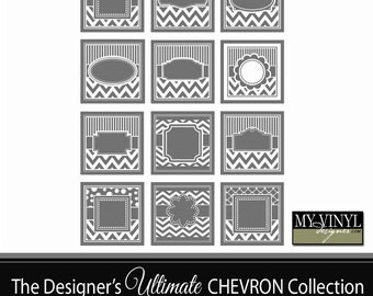 Chevron Frame SVG - Chevron Frames for Cutting or Printing - Cuttable SVG Frames - Svg Gsd Eps Ai - Frame Files for Cricut or Silhouette