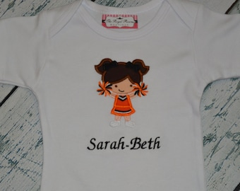 Personalized Cheerleader shirt or Bodysuit Personalized Your Team Color
