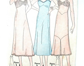 1930s Vintage Simplicity 7116 Slip Lingerie Sewing Pattern  Bust 32 inches