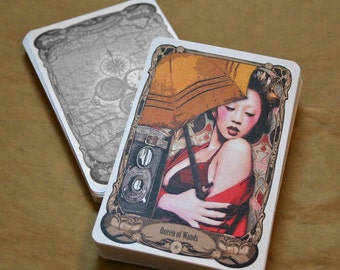 3x5 Steampunk Tarot Deck signed with Companion Book & Tin