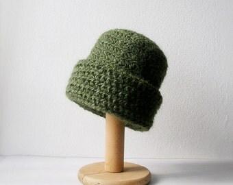 Green Beanie Slouchy Beanie Hat for Man Unisex Chocolate Brown Beanie