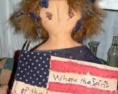 Miss Lady Liberty Primitive Doll   HAFAIR  HCA