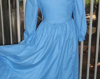 1800s Little House Prairie Pioneer - Laura's Sunday Dress w/ Bonnet for Girls