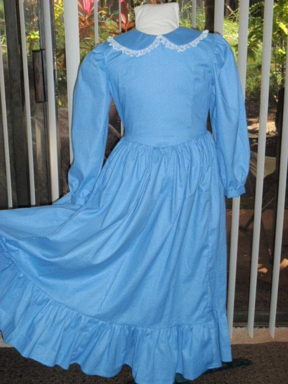 1800s Little House Prairie Pioneer Laura's Sunday Dress