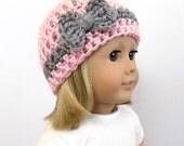 18 inch doll hat, doll clothing, Bow Doll Hat