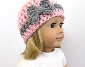 18 inch doll hat, doll clothing, Bow Doll Hat