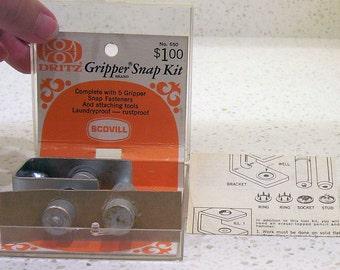 DRITZ GRIPPER SNAP Kit Vintage 1960s