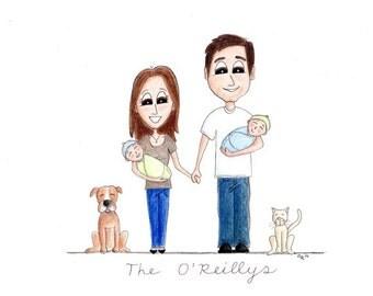 Custom Family Portrait Caricature