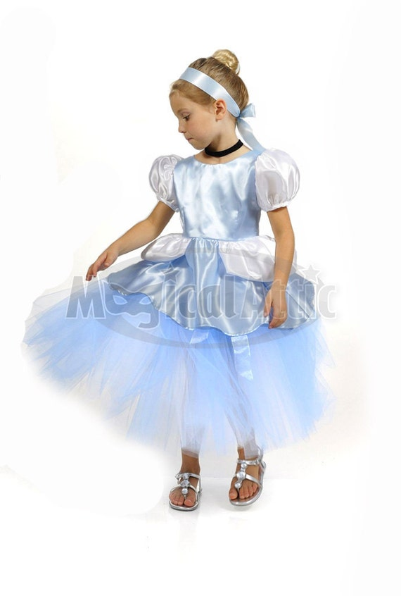 Custom Boutique Princess CINDERELLA  Girls Ball Gown Tutu and Corset Costume Dress Set