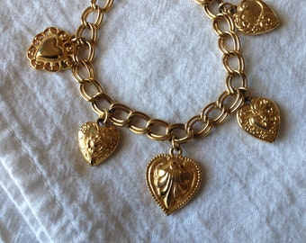 Heart Charm Bracelet Sarah Coventry