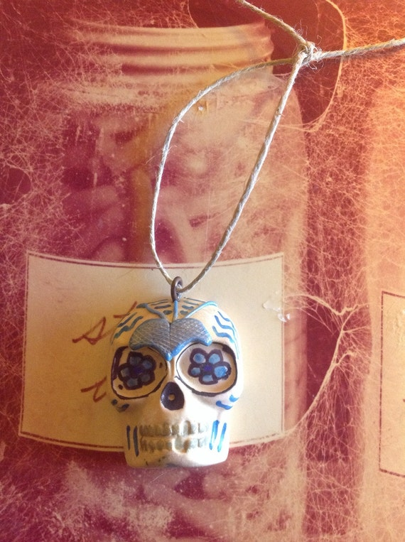 Steampunk Day of the Dead Skull Ornament
